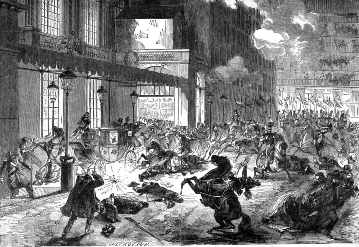 attentat d orsini à l entrée de l opéra 12 rue le peletier